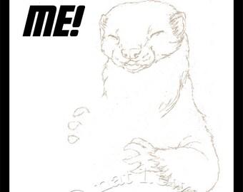 Commission Art Custom Illustration Custom Ferret Art Fantasy Art Whimsical Art Custom Pet Portrait Art Commission Drawing Pet Illustration
