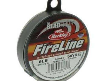 Fireline, 6 LB, 50 yard spool, Smoke Grey
