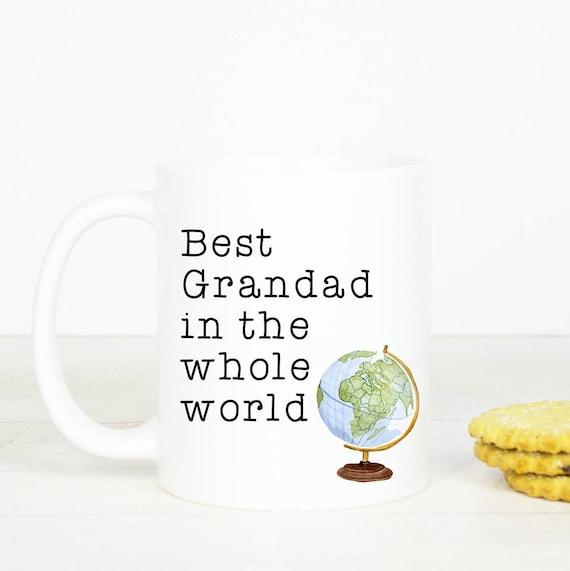 Best Grandad mug, Personalised back, great gift for Grandad, birthday mug