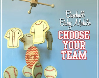 Baby Mobile | Baseball Mobile | Baseball Nursery | Baseball Baby | Yankees Mobile | Cardinals Mobile | Angels Mobile | Red Sox Mobile