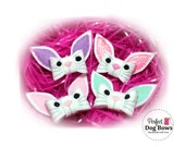 Easter Dog Bows, Easter Bunny, Bunny Ears, Bunny Face, Easter Dog Bow, Easter Bow