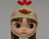 Blythe Crochet Helmet Hat - Chic Chick BUTTER