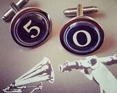Choose your numbers ...... Vintage Typewriter Number Keys Cufflinks