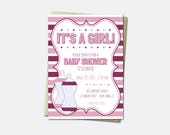 Baby Bottle Invitations -...