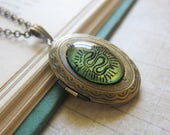 Prism Collection - Serpentine - Green and Copper Snake Locket