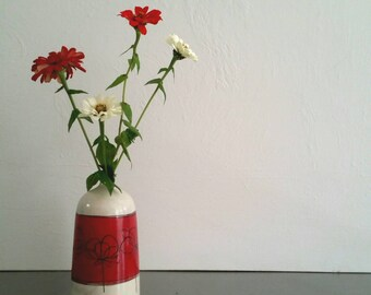 Bottle Ceramic Vase, Modern Pottery Bud Vase,  Vase with Minimalist Design