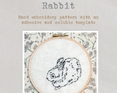 Rabbit - Embroidery Pattern - Create a delightful rabbit embroidery with this lovely pattern