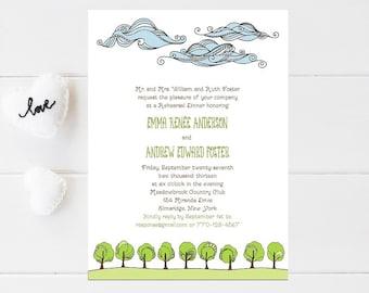 10 Nature Rehearsal Dinner Invitations, Tree Rehearsal Dinner Invitation - Wedding Rehearsal Invitation - Wedding Rehersal Invitations