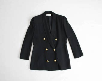 black military blazer | ilie wacs | black wool blazer