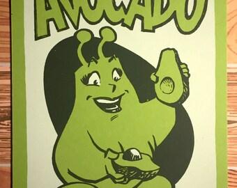 Avocado - Stuff I Like series screenprint