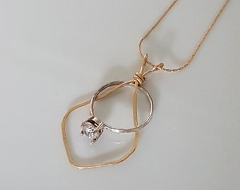Ring holder necklace rose gold engagement and wedding ring for Wedding ring necklace