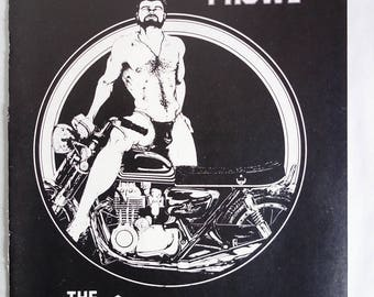 The CLUB BATHS Vintage 70s Gay Club NYC Leatherman Gay Bar Baths Ad Muslce Men Motorcycle Queer Jockstrap Physique Male Art Gay Interest