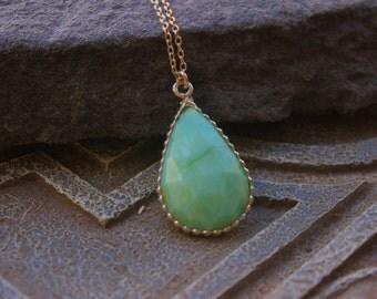 Blue Peruvian Opal  Pendant, Designer focal stone, large briolette pendant, healing gemstone