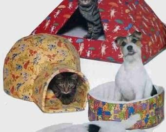 Sewing Pattern Pet Beds - Pyramid Pillbox Igloo Furball Butterick 5903 Original Sewing Pattern UNCUT