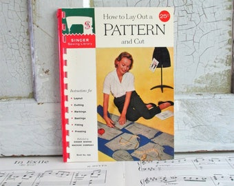 Vintage Singer Sewing Library Booklet - How To Lay Out a Pattern and Cut - 1960