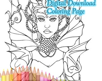 Zodiac colouring etsy for Capricorn coloring pages