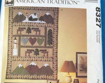 UNCUT McCall's Crafts 8327  American Tradition Quilt  -Pillows Christmas Stockings  Complete Uncut