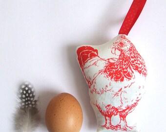 Sale Chicken Lavender Bag Red Hen Hanging Decoration