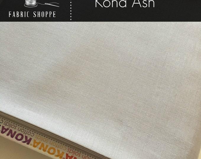 Kona cotton solid quilt fabric, Kona ASH 1007, Gray fabric, Solid fabric Yardage, Kaufman, Cotton fabric, Choose the cut