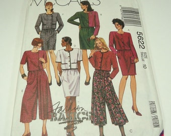 McCall's Misses' Two-Piece Dress Pattern 5622 Size 10 Fashion Basics