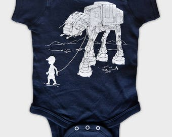 My Star Wars AT-AT Pet Baby Onesie Bodysuit,funny baby one piece, baby shower gift, 1st birthday gift, daddy's little boy, father's day gift