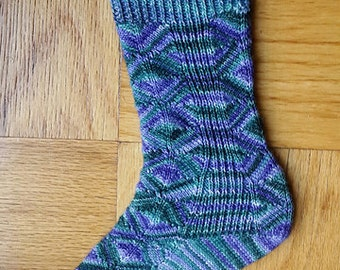 Diamondback Socks-- pattern by Kirsten Hall