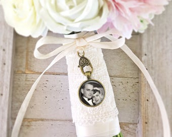 Bridal Bouquet Charm, Wedding Bouquet Photo Charm, Personalized Charm, Memorial Charm, Bouquet Pendant, Bridal Party Favor, Wedding Gift