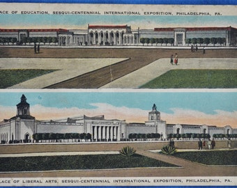 Postcard Palace Education Liberal Arts Sesqui-Centennial International Exposition Philadelphia PA 1926