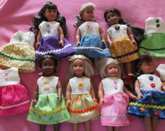Sleeveless Dress made to fit 6-1/2 inch Mini American Girl Doll