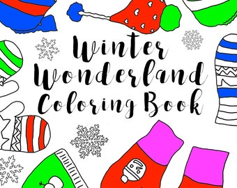 winter wonderland coloring book adult coloring book printable coloring pages instant download
