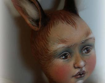 Harebell ooak jointed cloth doll