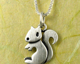 Tiny squirrel necklace / pendant