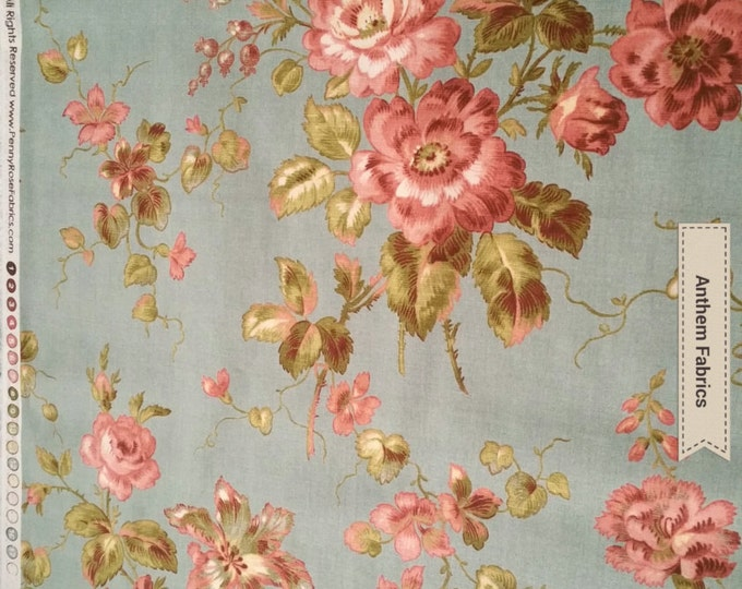 Penny Rose Riley Blake cotton fabric - Isabella Main PR4690 Blue by the yard