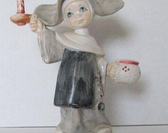 Fontanini Simonetti Nun Holding Candle Depose Italy #832 Spider Mark