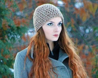 Brown and Tan Tones  Beanie Hat Cap Gift for Him or Her