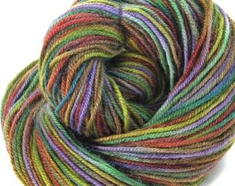 Alpaca Wool Yarn Hand Dyed Yarn Worsted Weight Yarn Soft Multi Colored - Olive Branch