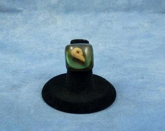 Encapsulated Bird Skull Specimen Ring, Handmade Biology Jewelry