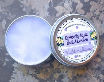 Violet-mallows Many Purpose Solid Lotion - Violet and Marshmallow