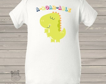 Adorable A-ROAR-ABLE  dino bodysuit or tshirt - new baby gift, pregnancy announcement ADBS