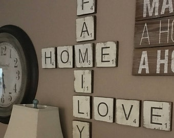 Large Letter Tiles for the wall Home Decor Letters