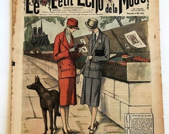 1920's French Fashion Magazine Le Petit Echo de la Mode Sunday May 9 1926