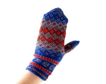 Vintage Wool Mittens | Norwegian Mittens | Handknit Mittens | S M