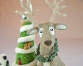 Reserved set of three Holiday needle felted creations from AnnaBelleArts