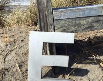Brushed Steel Letter E