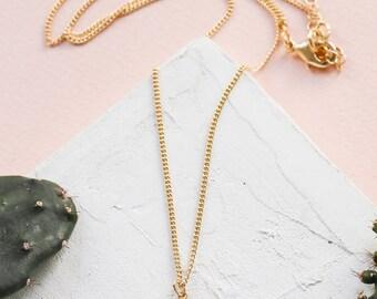 Tiny Cactus Necklace, Cactus Pendant, Cactus Charm Necklace, Girls Necklace, Kids Jewelry, Botanic Jewelry, Botanic Necklace