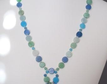 Pastel glass necklace set