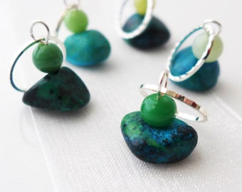The Standing Stones - Outlander Series - Five Handmade Stitch Markers - 9.0 mm (13 US) - Limited Edition
