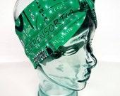 Slytherin Harry Potter House Turban Knot Headband - head band, workout headband, jogging headband, hogwarts, wizard