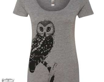 Womens OWL TriBlend Scoop Neck Tee - T Shirt S M L XL XXL (+ Colors)
