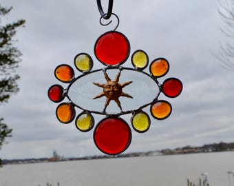 Abstract Sun Stained Glass Sun Catcher Sunshine Brighter Day